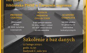 E-zbiory   – Biblioteka PWSZ w Tarnowie zaprasza !