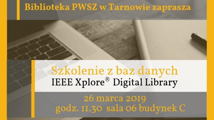Szkolenie z baz danych  IEEE Xplore® Digital Library