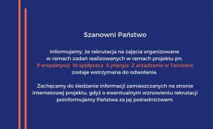 Informacja dot. zadań realizowanych w ramach projektu